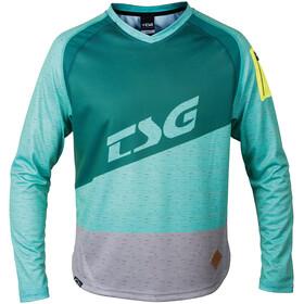 TSG Breeze Långärmad cykeltröja Herr turkos/Petrol